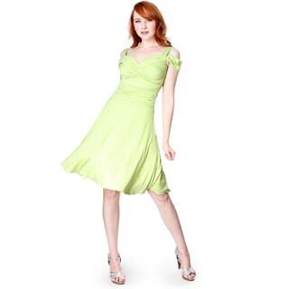 Evanese Women's Slip On Elegant Cocktail Short Dress with Shoulder Bands
