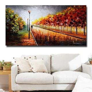 Design Art 'Landscape Trees Stormy Autumn' Canvas Art Print