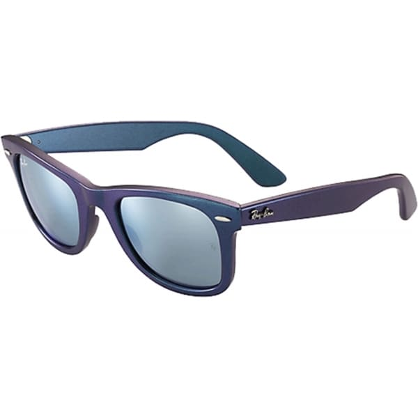 Ray-Ban Men's Mirrored RB2140 Blue Wayfarer Sunglasses