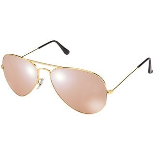 Ray-Ban RB3025 001/3E Aviator Large Metal Sunglasses Silver Pink Lenses