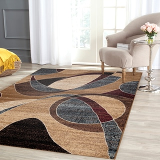 Contemporary Modern Circles Multi Area Rug (7'10 x 10'2)