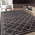 Trellis Contemporary Modern Design D.Grey Area Rug (7'10 x 10'2)