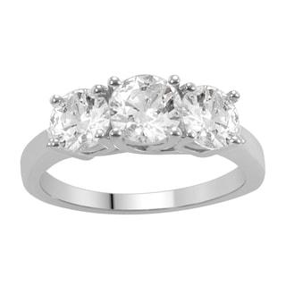 14k White Gold 1 1/2ct TDW Diamond 3-stone Anniversary Ring (H-I, I1-I2)