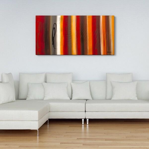 'Juxtaposition' 24x48 Canvas Wall Art 15702062