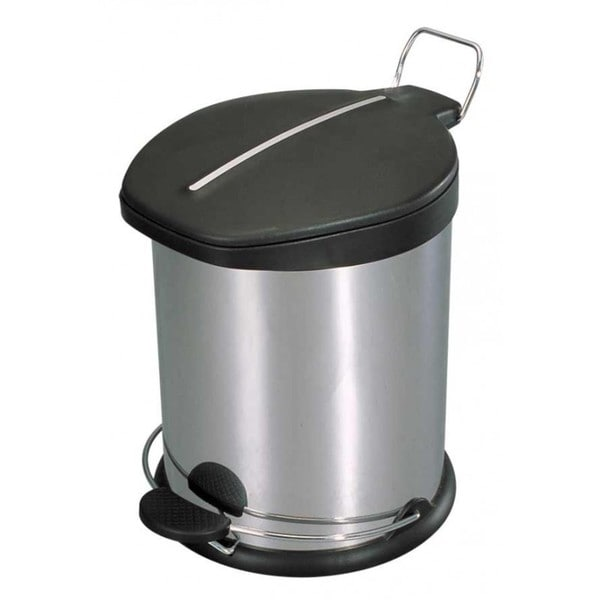 Home Basics Stainless Steel 20-liter Waste Basket
