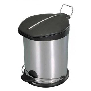 Home Basics Stainless Steel 20-liter Waste Basket