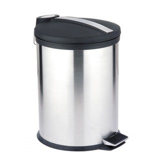 Home Basics Stainless Steel 5-liter Waste Can