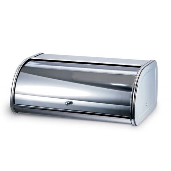 Home Basics Stainless Steel Grey Bread Box