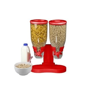 Home Basics Red Dual Cereal Food Dispenser
