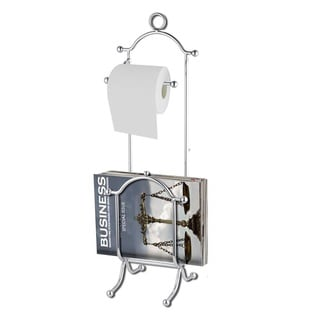 Home Basics Toilet Paper Holder with Magazine Rack
