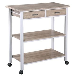 Home Basics 2-drawer Kitchen Cart