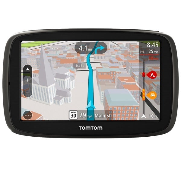 TomTom GO 50S GPS Navigation System with Lifetime Maps and Traffic with Accessory Kit