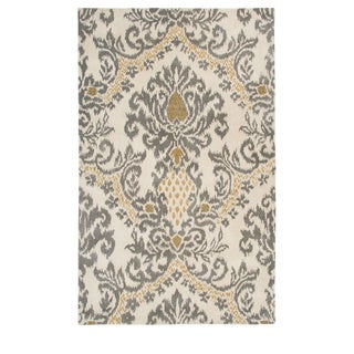 Rizzy Home Transitional Beige Trellis Destiny Collection Hand-Tufted Accent Rug (3' x 5')