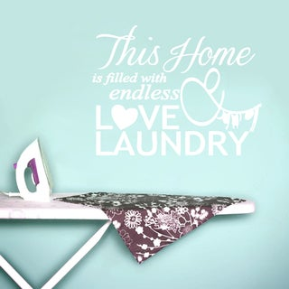 Endless Love and Laundry Decor Wall Decal (18 inches x 14 inches)