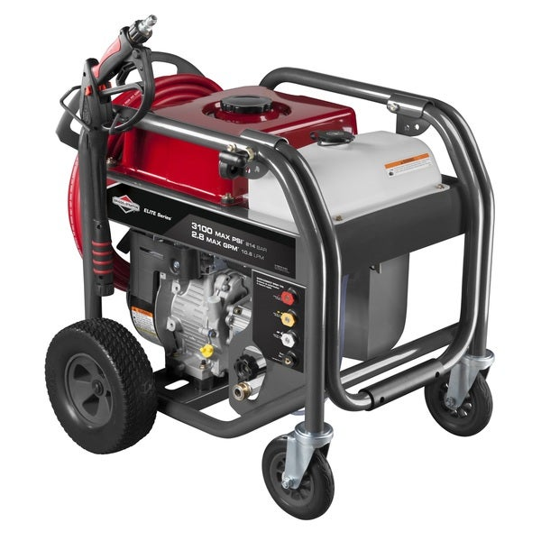 Briggs & Stratton 3100 MAX PSI / 2.8 MAX GPM Gas Pressure Washer with 4-Wheel Design for Easy Maneuverability