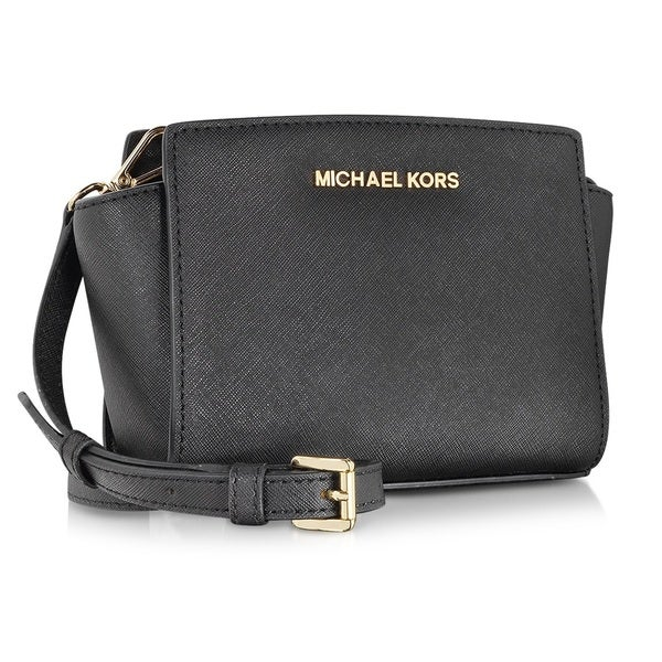 MICHAEL Michael Kors Selma Mini Messenger-Black