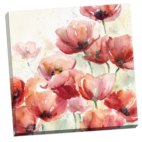 Portfolio Canvas Decor Canvas Wall Art, Poppy Field by E. Franklin 24x24, Framed and Stretched, Ready to Hang