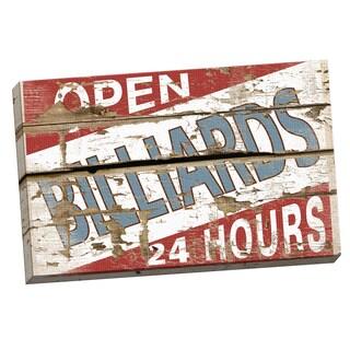 Portfolio Canvas Decor IHD Studio 'Vintage Signs - Billiards I' Framed Canvas Wall Art