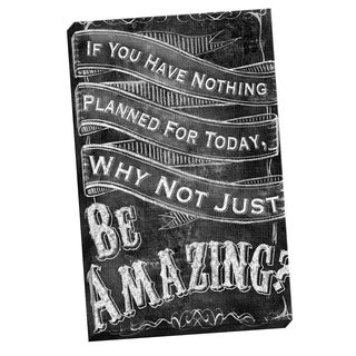 Portfolio Canvas Decor IHD Studio 'Chalkboard - Be Amazing 2' Framed Canvas Wall Art