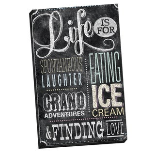 Portfolio Canvas Decor IHD Studio 'Chalkboard - Meaning of Life Color' Framed Canvas Wall Art