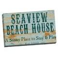 Portfolio Canvas Decor IHD Studio 'Vintage Signs - Seaview Beach 3' Framed Canvas Wall Art