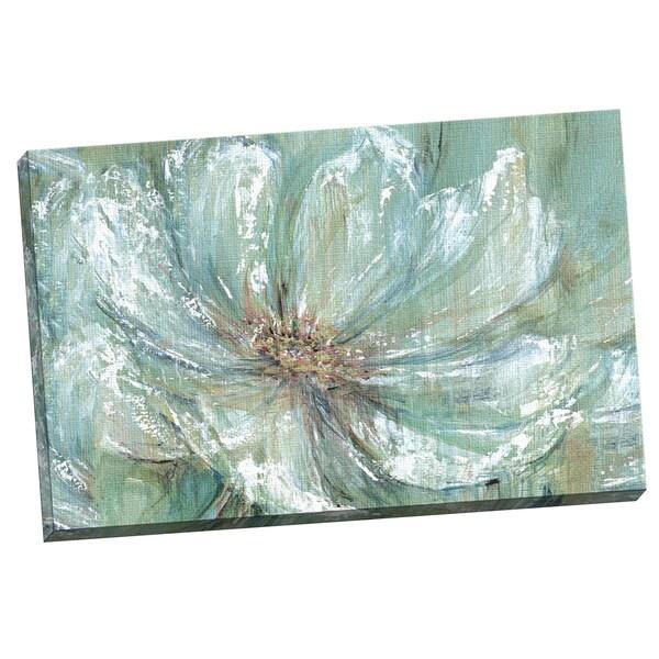 Portfolio canvas decor carson 39 teal splash 39 framed canvas for Teal wall art