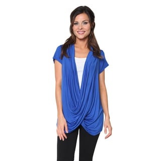 FTL Women's Short Sleeve Criss Cross Pullover Top