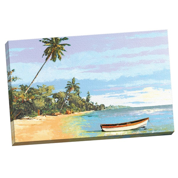 Gregory Garrett 'Tropical 4' Framed Canvas Wall Art