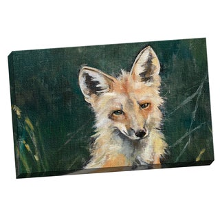 Elinor Luna 'Fox horizontal' Framed Canvas Wall Art