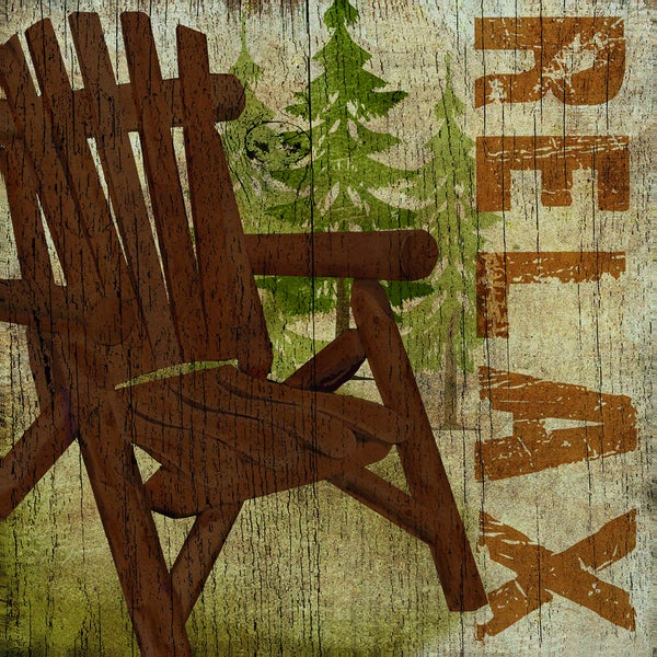 Beth Albert 'Campsite Chair' Framed Canvas Wall Art (Set of 2)