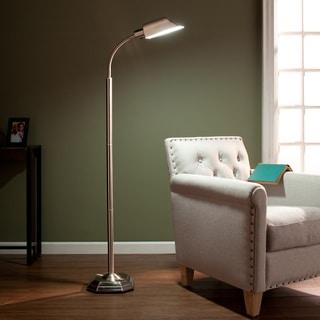 Upton Home OttLite Brushed Nickel Hartley Task Floor Lamp