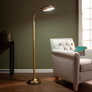 Upton Home OttLite Honey Brass Hartley Task Floor Lamp