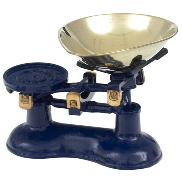 Miu Victor Blue Cast Iron Kitchen Scale