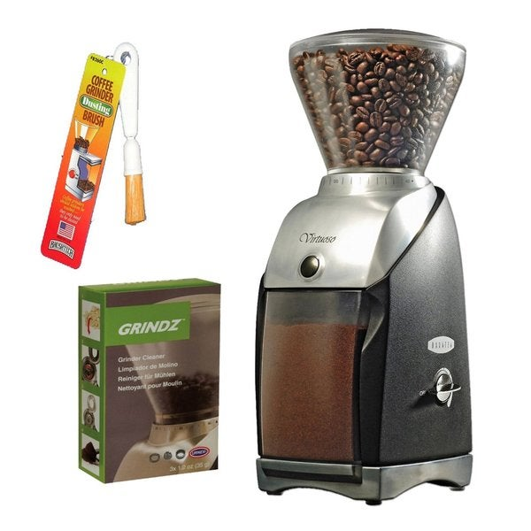 Baratza 586 Virtuoso Coffee Grinder + Grindz 35G Coffee Grinder Cleaner (3-pack) + Coffee Grinder Dusting Brush