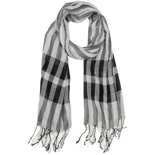 Le Nom Women's Breezy Plaid Scarf
