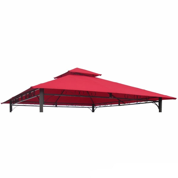 International Caravan Replacement Canopy for 10-foot Vented Canopy Gazebo in Ruby Red (As Is Item)