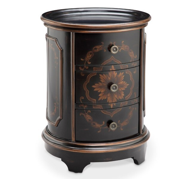 Acanthus Floral Detailed Brown Chest