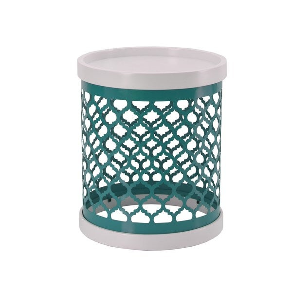 Quatrefoil Metal Drum