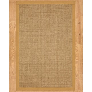 Handcrafted Banfield Sisal Sage/ Khaki Rug (6' x 9')