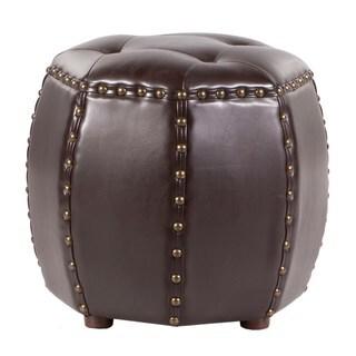 Brianna Leather Ottoman