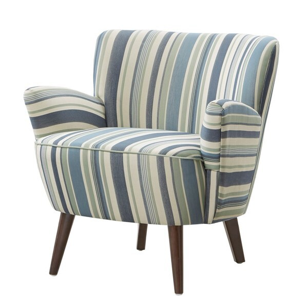 Sophie striped accent chair overstock shopping great for Striped chairs living room