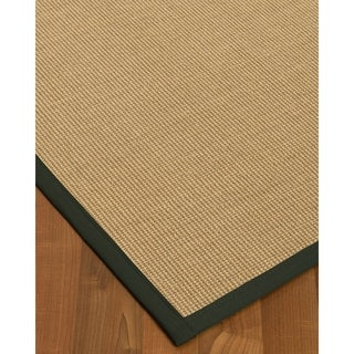 Handcrafted Hibiscus Sisal Fossil Rug (6' x 9')