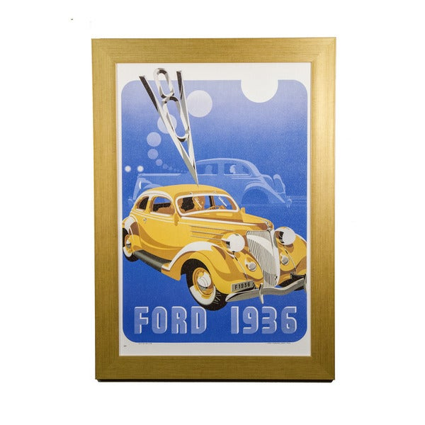 Framed Art - Classic Cars, Ford 1936