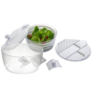 Big Boss Vegetable Grater and Salad Spinner 8-piece Set