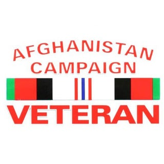 Afghanistan Campaign Veteran Car Decal