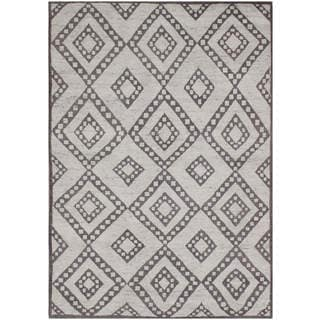 Hand-knotted Moroccan Beni Ourain Double Diamond Wool Charcoal Rug (6' x9')