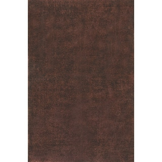 Hand-knotted Overdyed Brown Rug (6' x9')