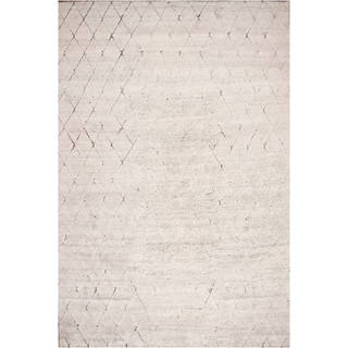Hand-knotted Moroccan Beni Ourain Wool Natural Rug (9' x12')