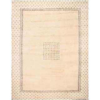 Hand-knotted Moroccan Beni Ourain Dara Wool Ivory Rug (9' x12')