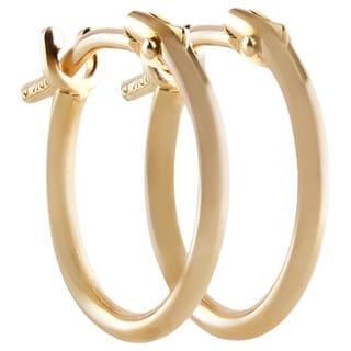 10k Yellow Gold 2x10mm Circle Hoop Earrings